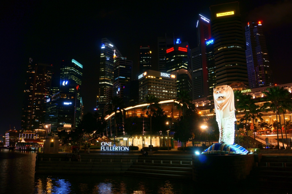 Merlion - Skyline Singapur