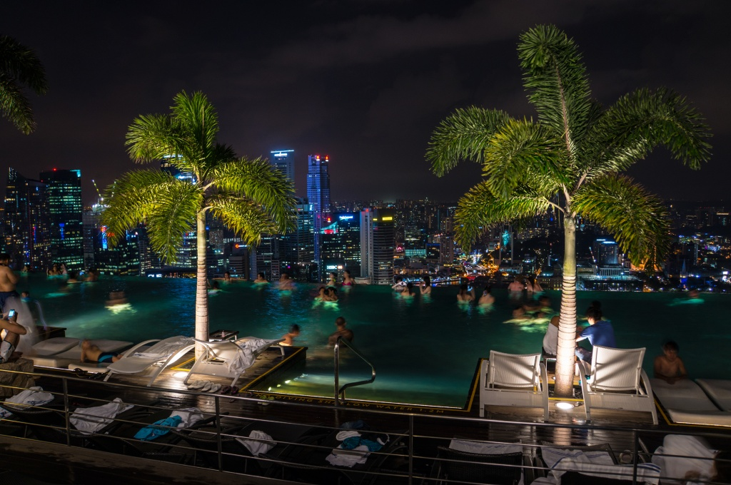 View from Marina Bay Sands Pool